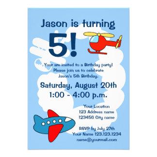 För barn för flygtemafödelsedagsfest inbjudan