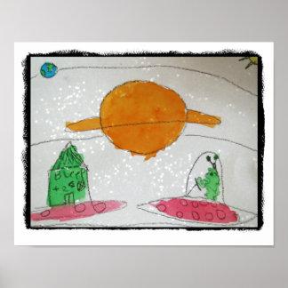 För barn för konst för utrymmefraktsovrum poster