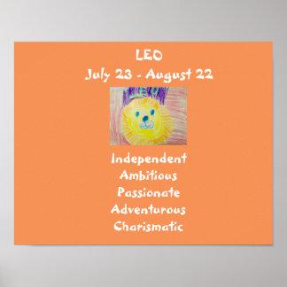 För barn för Leo Zodiacaffisch Poster