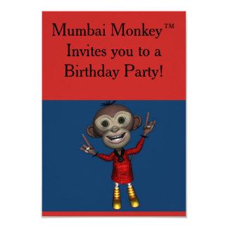 För barn för Mumbai Monkey™ födelsedaginbjudningar 8,9 X 12,7 Cm Inbjudningskort