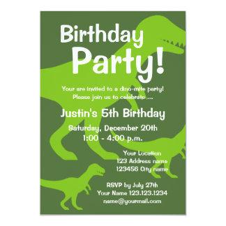 För barn för T-Rex dinosaurfödelsedagsfest 12,7 X 17,8 Cm Inbjudningskort