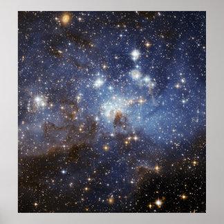 För barnkammareutrymme för LH 95 stjärn- fotografi Poster