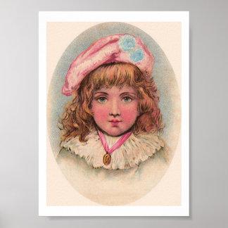 För barnporträtt för Victorian franskt tryck för