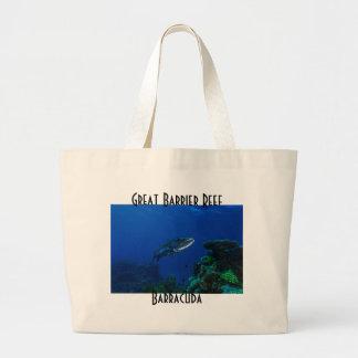För barriärrevkorall för Barracuda underbart hav Jumbo Tygkasse