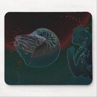 för barriärrevkorall för nautilus underbart hav musmatta