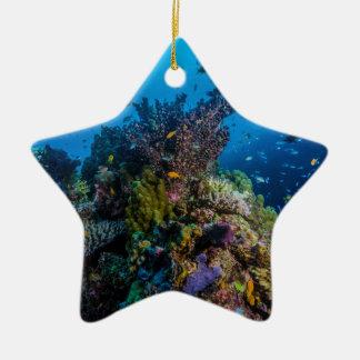 För barriärrevkorall för tropisk fisk underbart julgransprydnad keramik