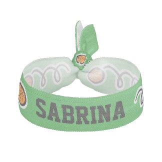 För baskethår för anpassningsbar grön tie med hårband