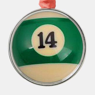 """""""För bassängboll för boll 14"""" gåvor och produkter Rund Silverfärgad Julgransprydnad"""