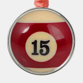 """""""för bassängboll för boll 15"""" gåvor och produkter rund silverfärgad julgransprydnad"""