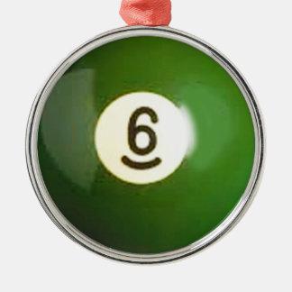 """""""för bassängboll för boll 6"""" gåvor och produkter rund silverfärgad julgransprydnad"""