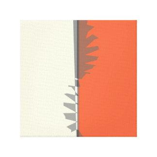 För Bauhaussymbol för MIdcentury modern Gropius Canvastryck