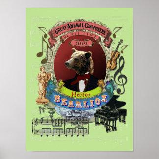 För Bearlioz för Berlioz parodiparodi kompositör Poster