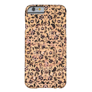 För beige blommönsteriphone case flickaktigt barely there iPhone 6 fodral