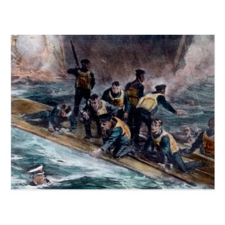 För besättningflykter för RMS sjunker den Titanic Vykort