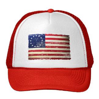 För Betsy Ross för vintage söndersliten hatt ameri Keps