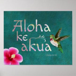 För bibelVerse för Hummingbird hawaiansk affisch