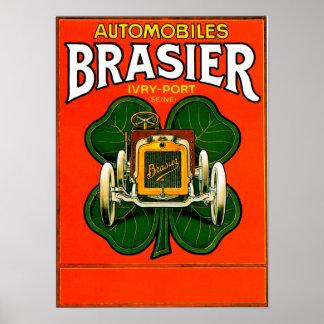 För bil~ för Brasier motorisk annons för bil för v Poster