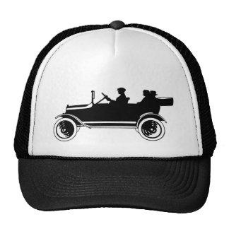 För bilSilhouette för vintage antik hatt för lock Keps