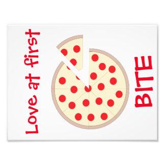 För bitaPizza för kärlek först konst för vägg för Fototryck