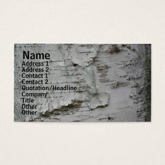 För björkskäll för vit papper visitkort för natur