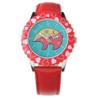 För björndesign för indian stam- klocka