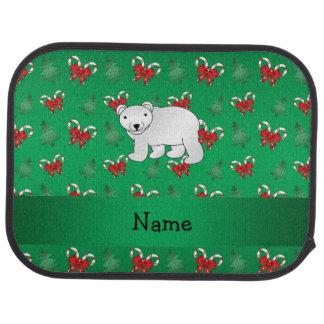 För björngrönt för personlig känd polar pilbåge bilmatta