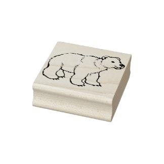 för björnillustration för bebis polart frimärke stämpel