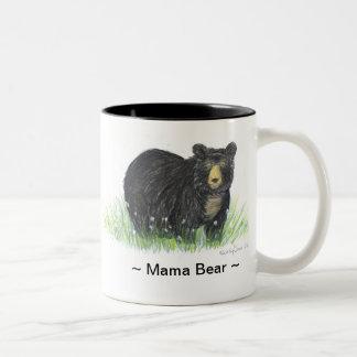 för björnsvart för mammor 11oz insida för svart Två-Tonad mugg
