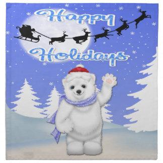 För björntrasa för glad helg polara servetter