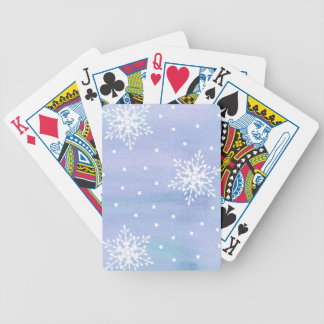 För blå himmelvit för vinter purpurfärgad polka spelkort