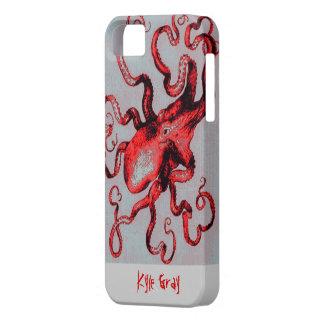 för bläckfiskiphone 5 för vintage rött fodral iPhone 5 cover