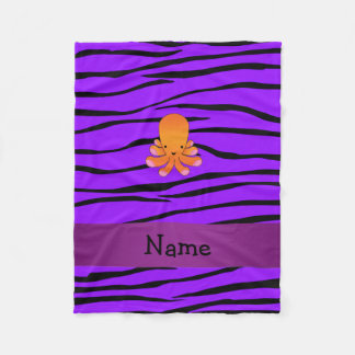 För bläckfisklilor för personlig känd orange sebra fleecefilt