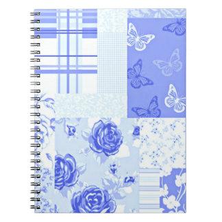 För blåklintblått för land söt anteckningsbok