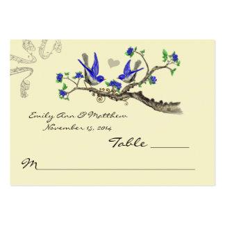 För blått- och gråttbord för vintage kungliga kort visit kort