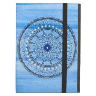 För blått- och vitMandala för hand plockade nätt iPad Air Fodral