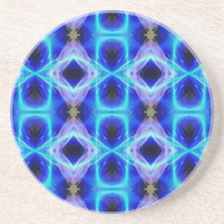 För blåttabstrakt för neon elektriskt mönster underlägg sandsten