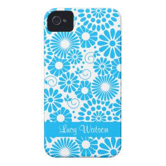 För blåttblackberry bold för vintage blom- fodral iPhone 4 case