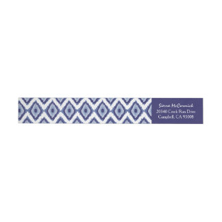 För blåttIkat för personlig indigoblå sparre vit Etikettband