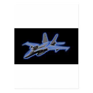 För blåttkämpe för bålgeting F/A-18 jet Vykort