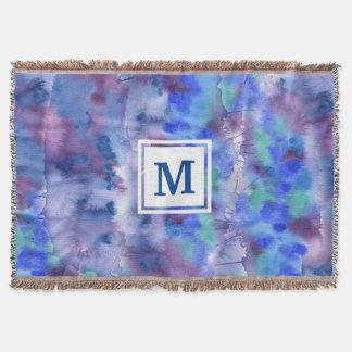 För blåttlilor för vattenfärg abstrakt Räcka-Målad Mysfilt