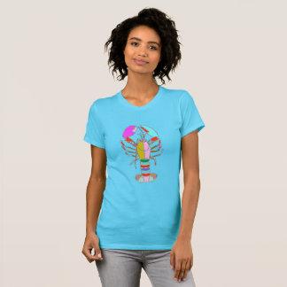 För blåttsommar för färgrik hummer ljus T-tröja T-shirts