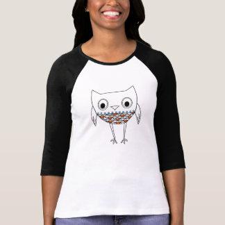 För blåttsvart för nyckfull uggla orange varelser t-shirts