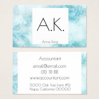 För blåttvisitkort för marmor geometrisk modern visitkort