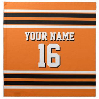 För Blk-laget för pumpa numrerar den orange Jersey Tygservett