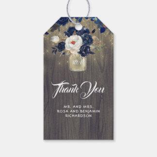 För blom- lantligt bröllop Masonburk för marin Presentetikett