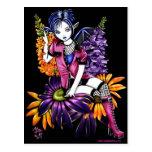 För blommaälva för Punk skälmskt naturväxen gotisk Vykort