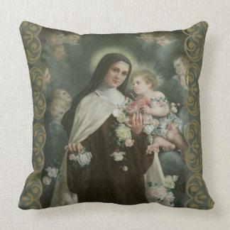För blommaänglar för St. Therese lite ro för Kudde