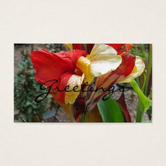 För blommablommigt för natur röd fotografi visitkort