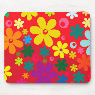 För blommakärlek för Groovy Hippie färgrikt Musmatta