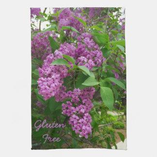 För blommamaträtt för Gluten fri lila handduk Kökshandduk